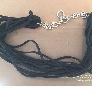 Silpada leather multi strand necklace